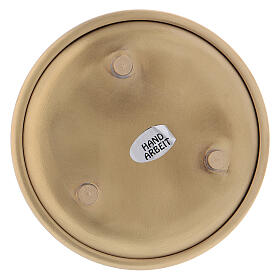 Gold plated brass round plate 4 in s3