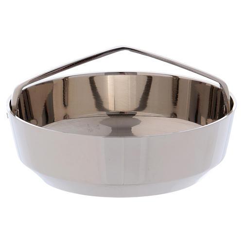 Bol porte-encens avec manche laiton argenté 10 cm 1
