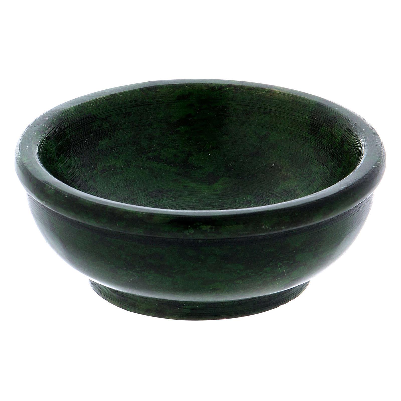 Ciotolina portaincenso pietra ollare verde 7,5 cm 3