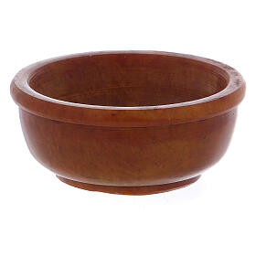 Incense bowl in amber soapstone 6.5 cm s1