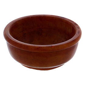 Incense bowl in amber soapstone 6.5 cm s2