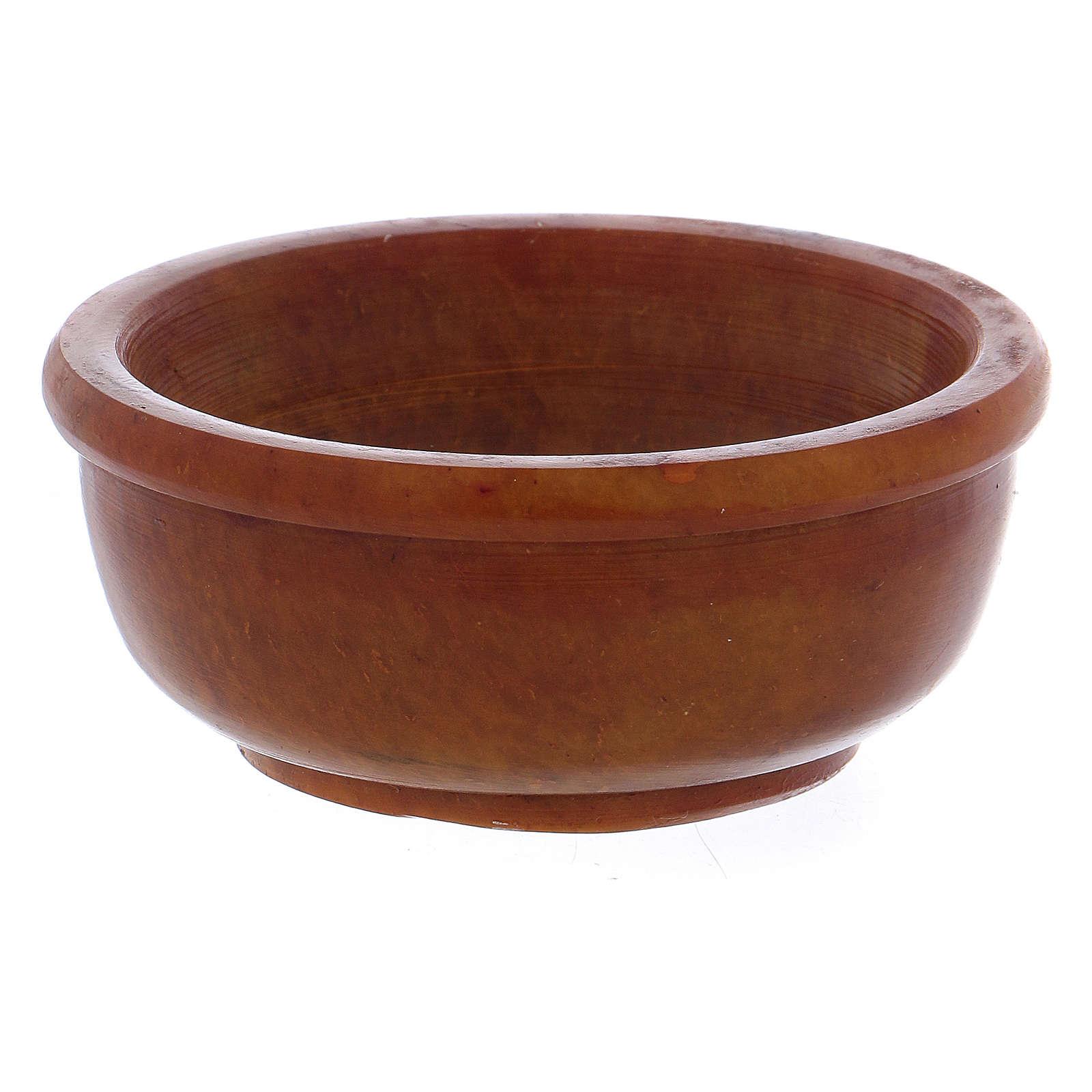 Ciotolina portaincenso ambra pietra ollare 6,5 cm 3