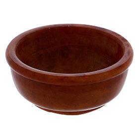 Ciotolina portaincenso ambra pietra ollare 6,5 cm s2