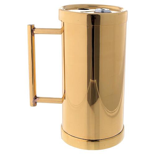Offertory container golden brass 15 cm 3