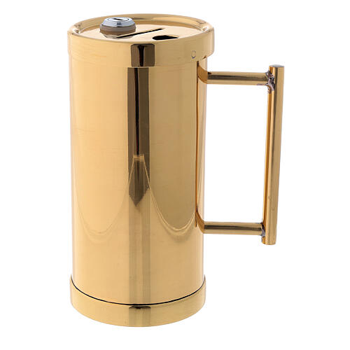Contenitore offertoriale ottone dorato 15 cm 1