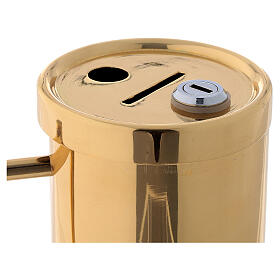 Gold plated brass collection box 6 in s2