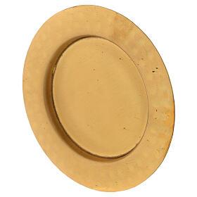 Golden satin brass saucer 10 cm s2