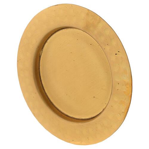 Platillo latón satinado dorado 10 cm 2