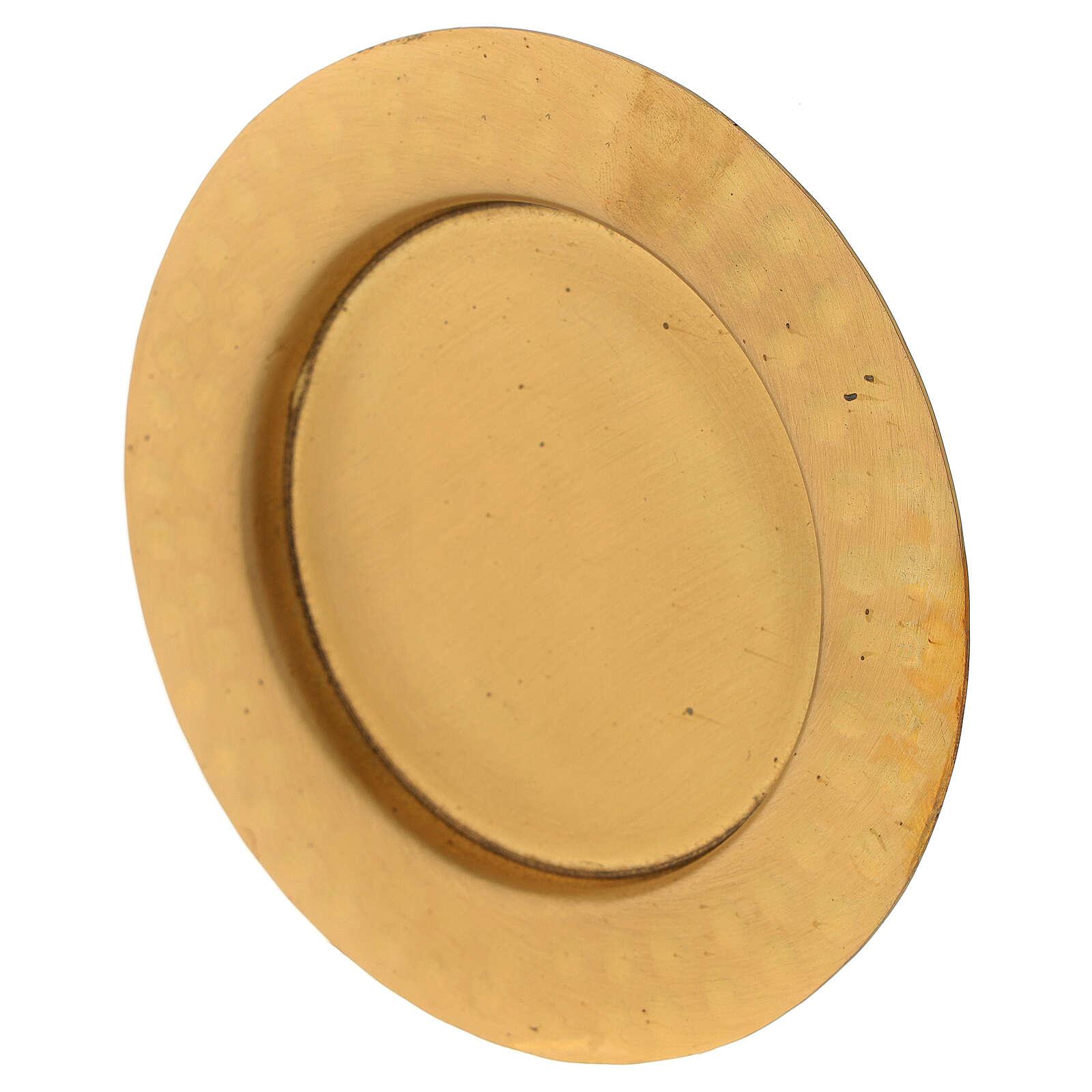 Piattino ottone satinato dorato 10 cm 3