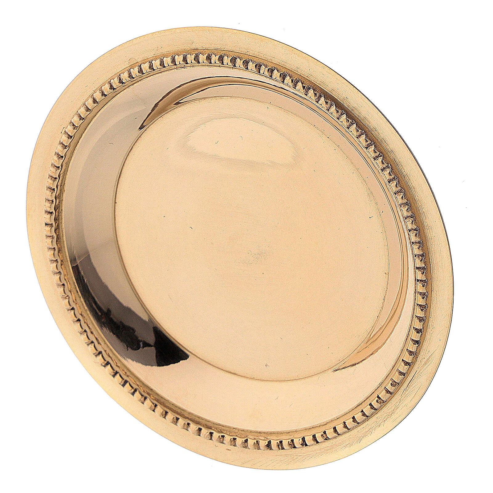 Assiette dorée laiton satiné 7 cm 3