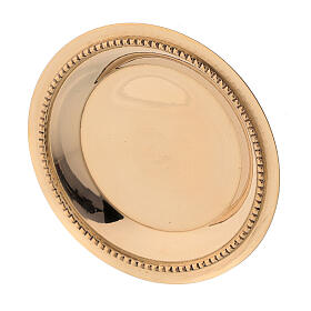 Prato dourado latão acetinado 7 cm s3