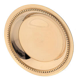 Candle holder plate in gold plated brass with satin finish 3 in s2