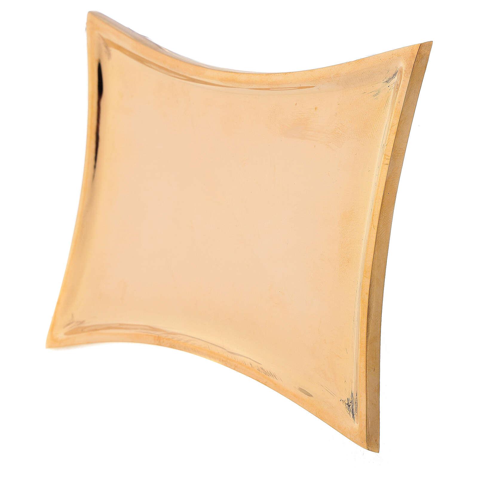 Platillo cóncavo latón dorado lúcido 3