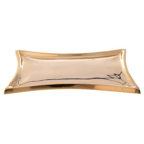 Piattino concavo ottone dorato lucido 1
