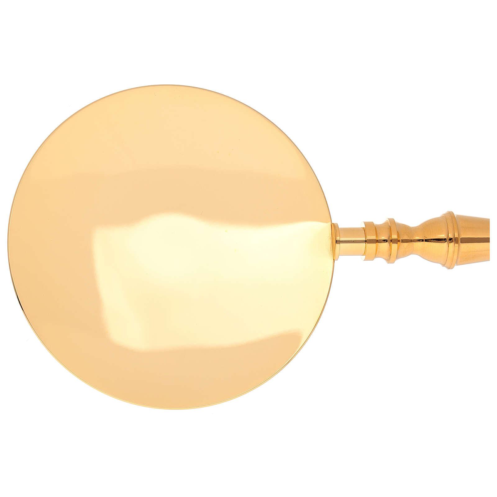 Assiette dorée pour communion 3
