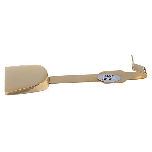 Cuchara para hostias latón dorado 12 cm 3