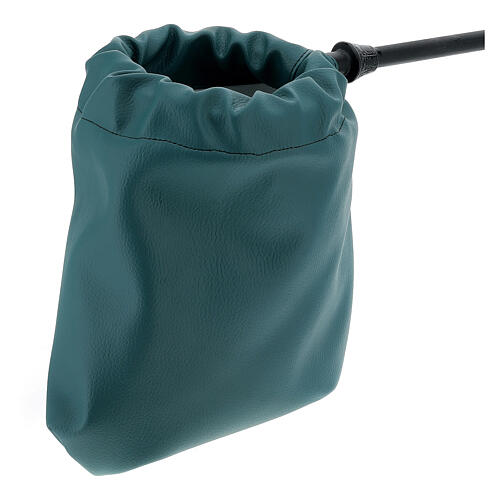 Green faux leatherette bag for alms 2