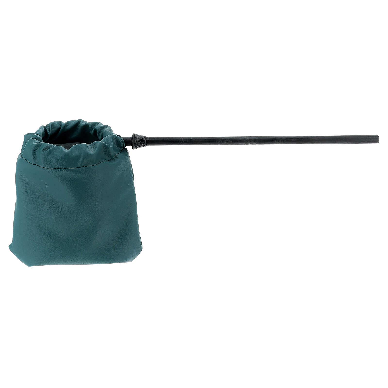 Sac pour offrandes en imitation cuir vert 3