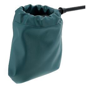 Sac pour offrandes en imitation cuir vert s2