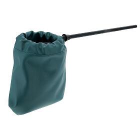 Sac pour offrandes en imitation cuir vert s3