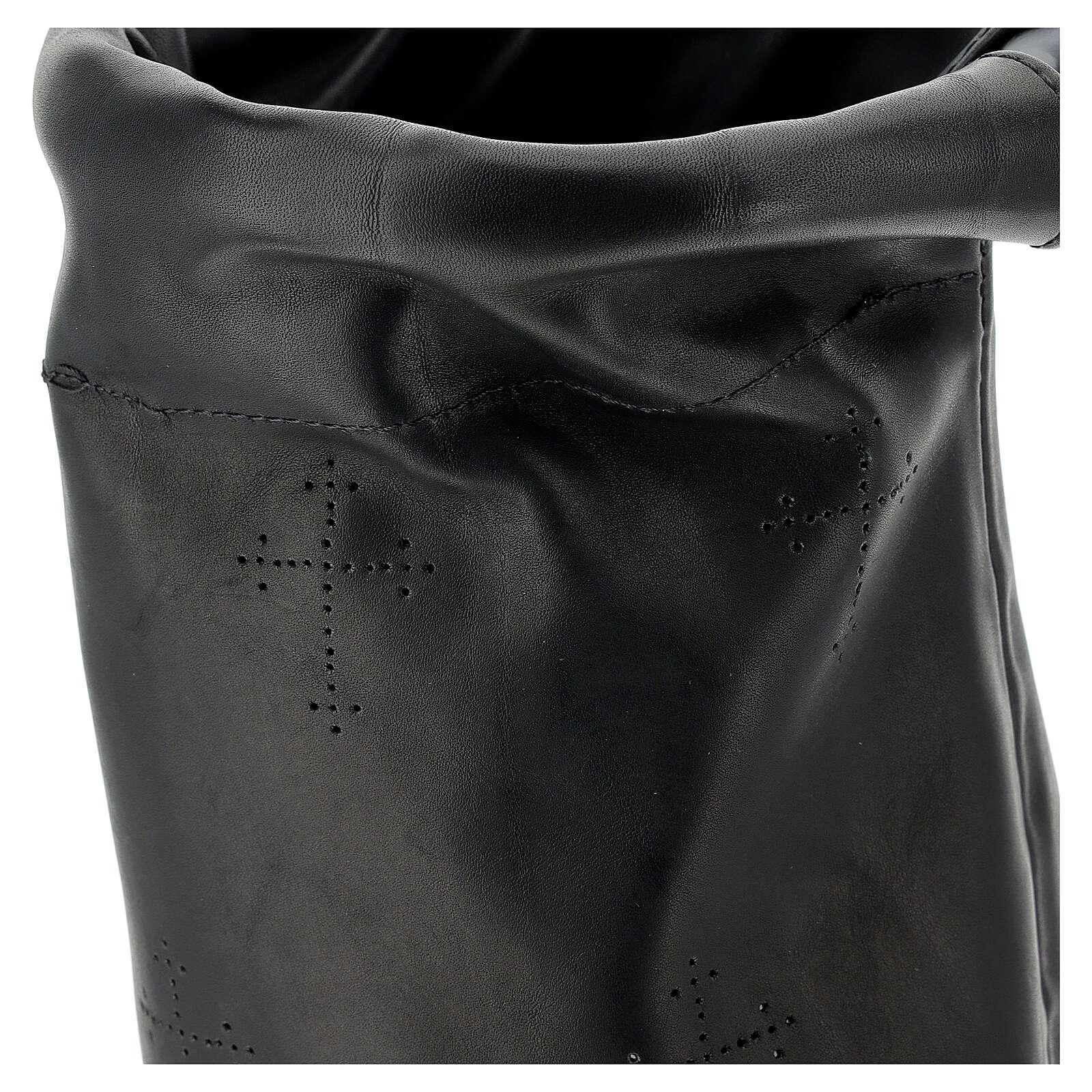 Black leather offering bag 3