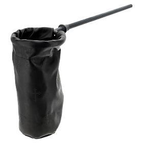 Black leather offering bag s3