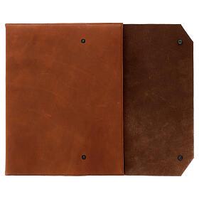 Calepin couverture cuir véritable marron étoile moins Bethléem 30x25x2 cm s2