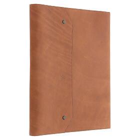 Calepin couverture cuir véritable marron étoile moins Bethléem 30x25x2 cm s4