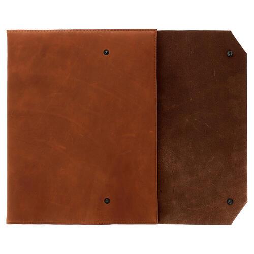Calepin couverture cuir véritable marron étoile moins Bethléem 30x25x2 cm 2