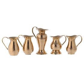 Set 5 brocchette ottone dorato 7-10 cm s1