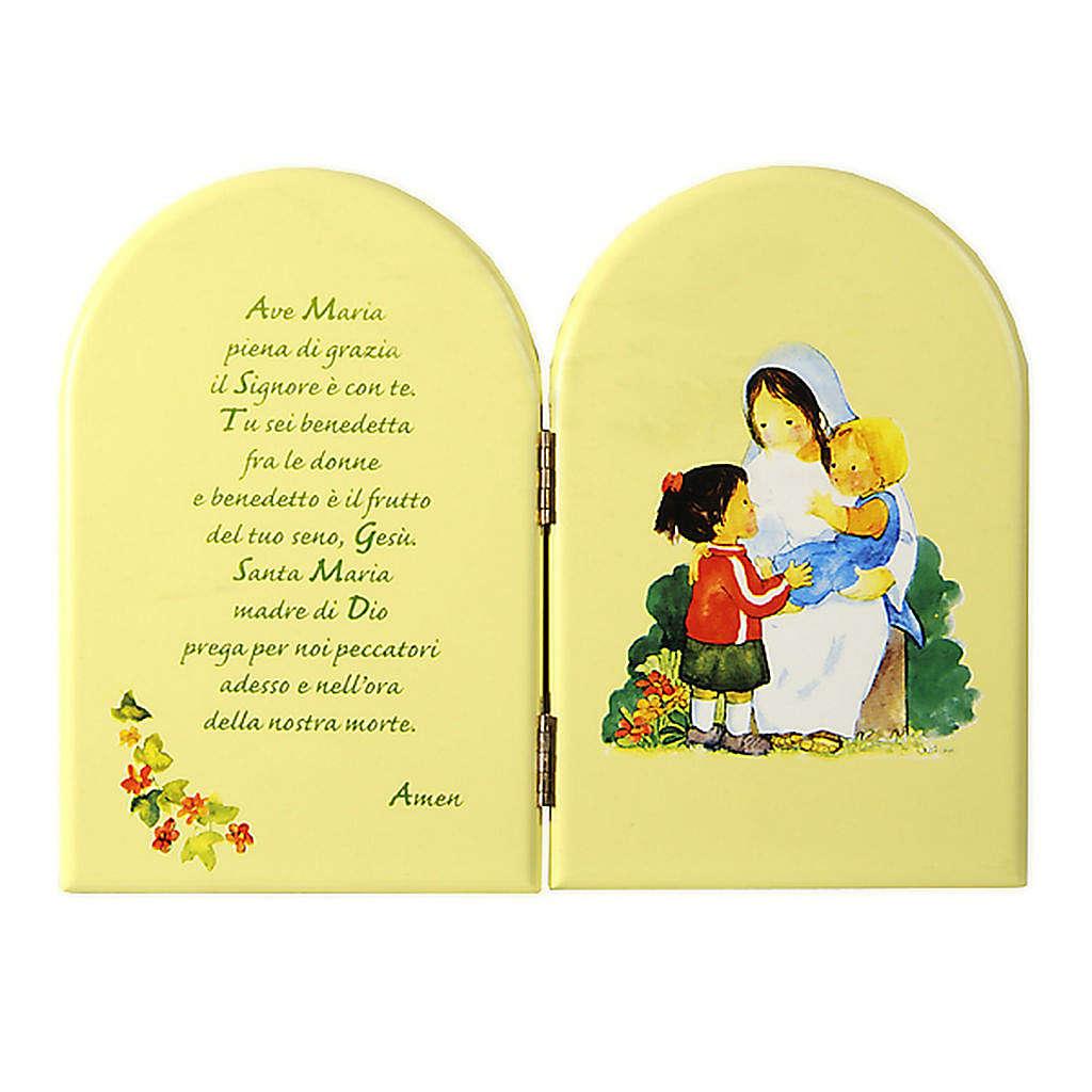 Pala libro verde Ave maria Azur 3