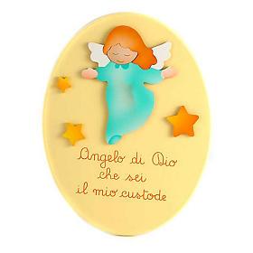 Ovale angelo di Dio giallo Azur s1