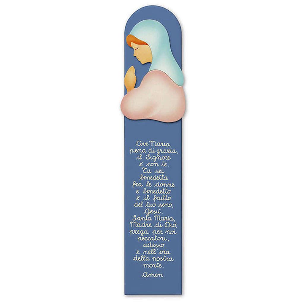 Pala preghiera Ave Maria blu 11x60 cm Azur 3