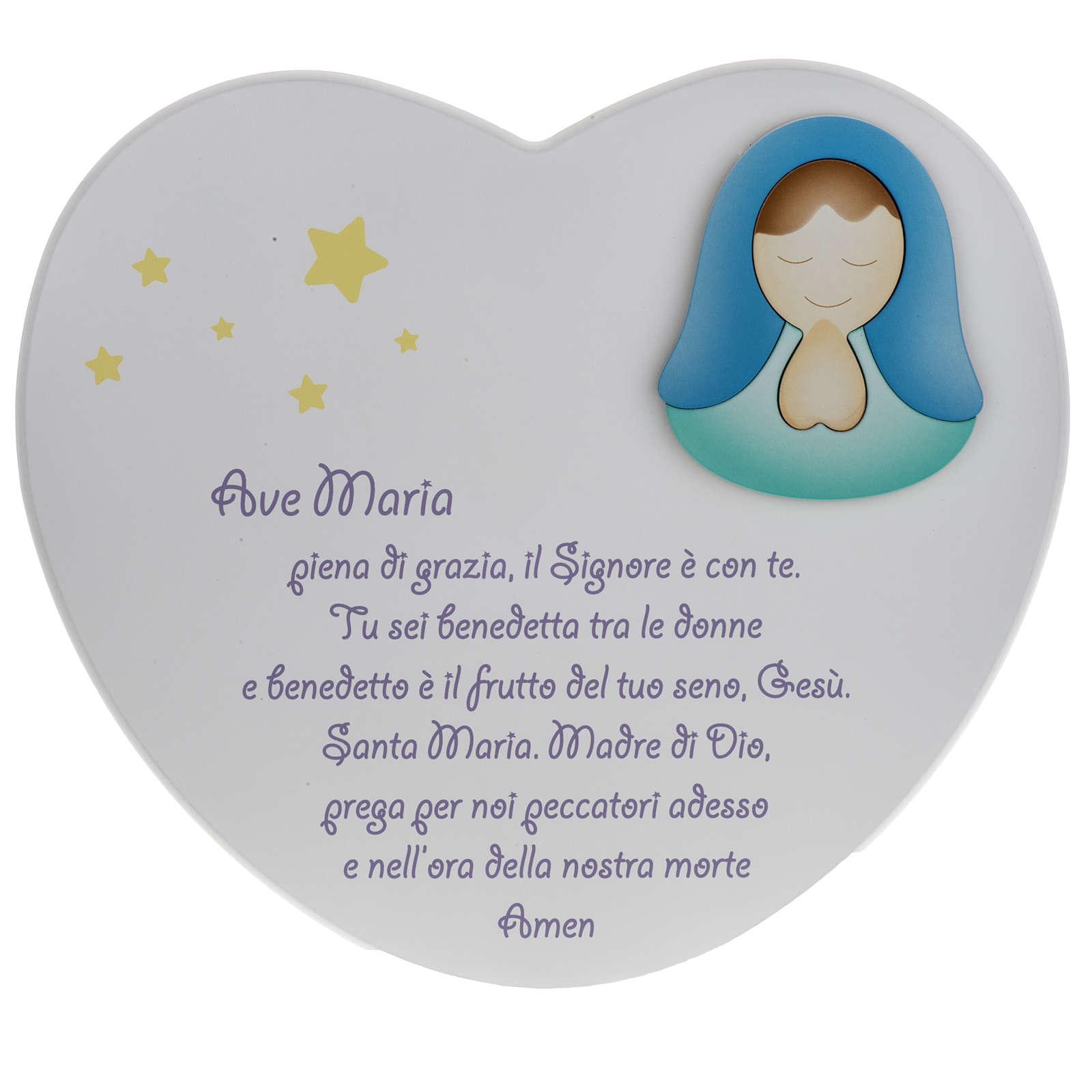 Corazón cántico Ave María Azur Loppiano 3