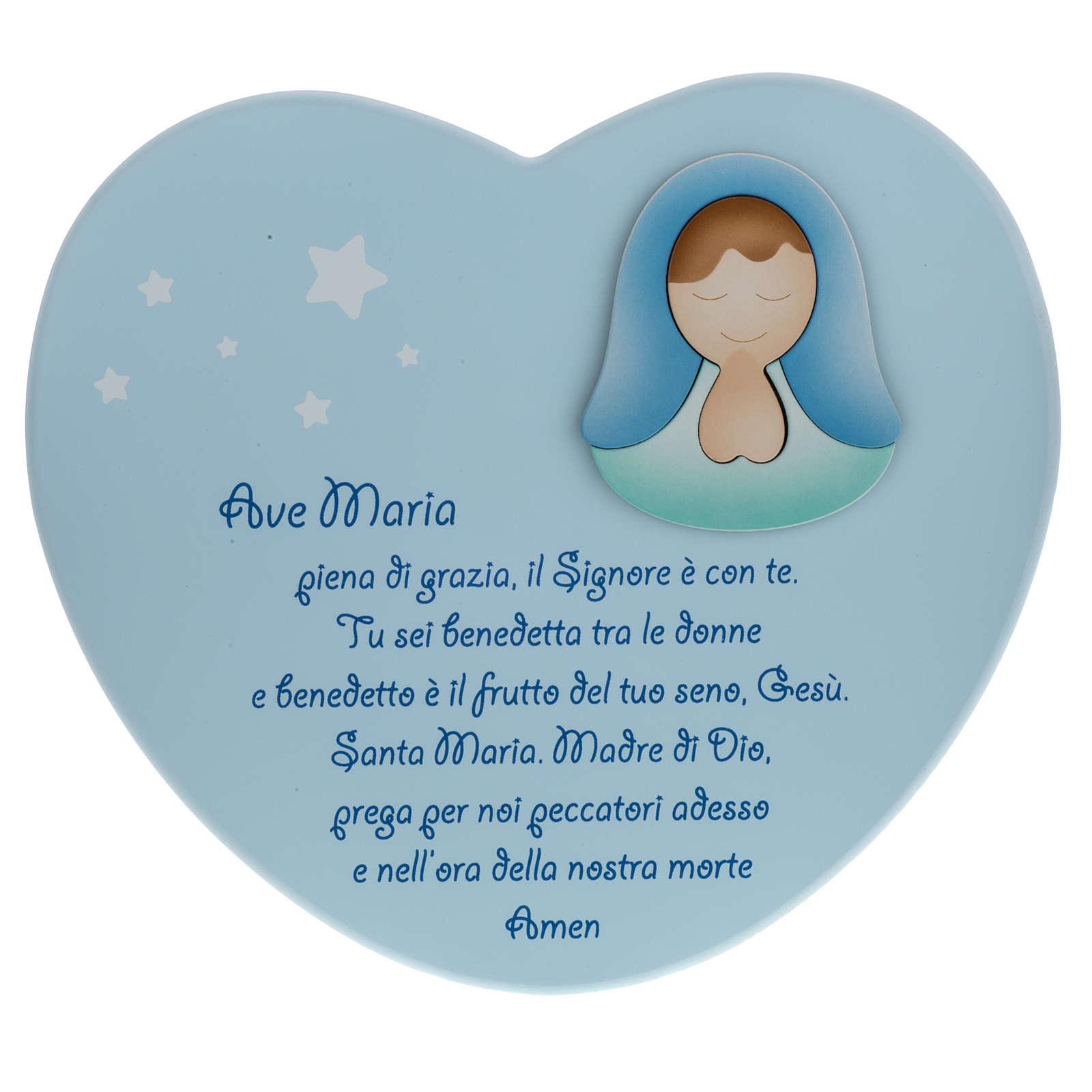 Corazón cántico Ave María celeste Azur Lopp 3