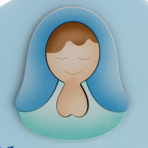 Corazón cántico Ave María celeste Azur Lopp 2