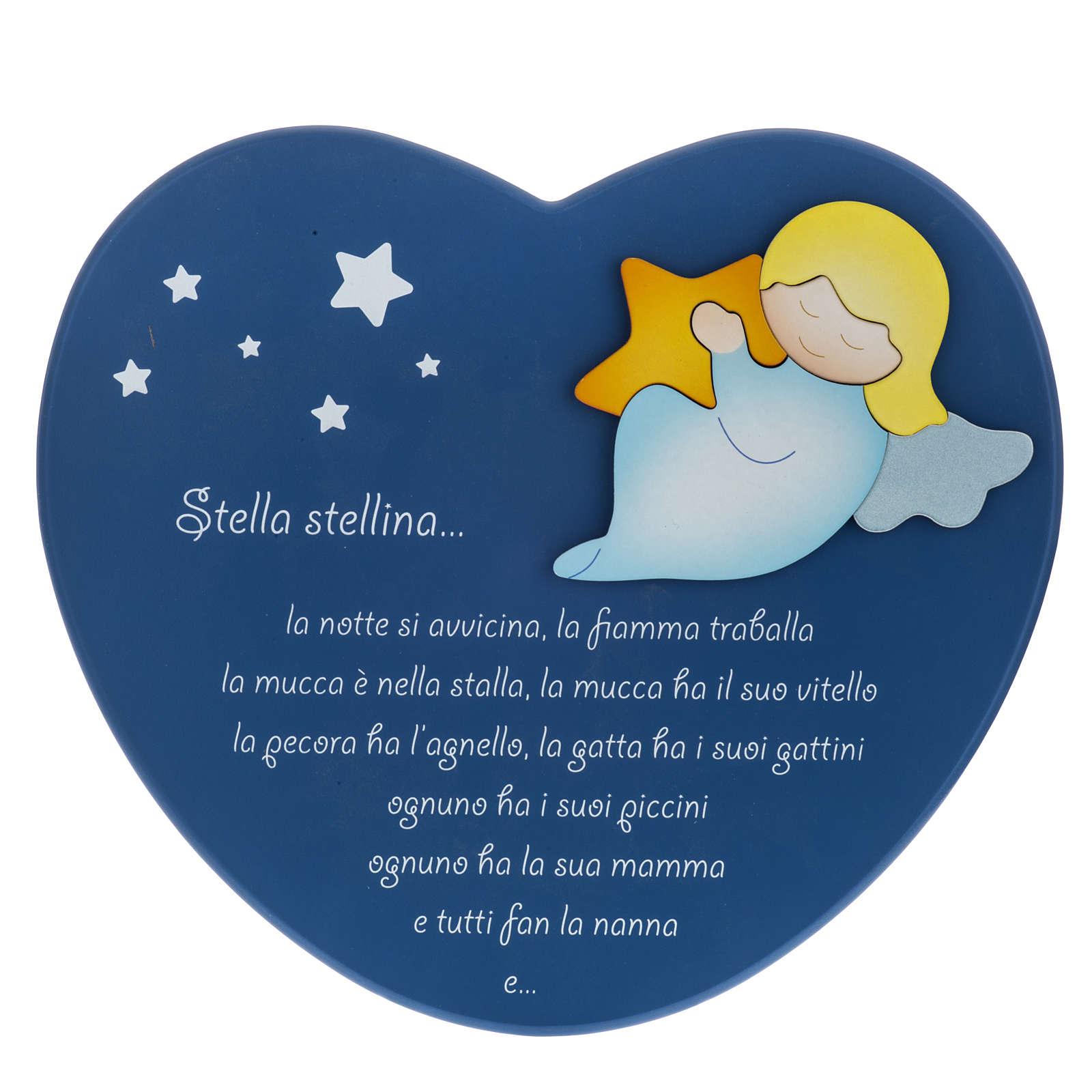 Corazón cántico estrellitas azul Azur Loppiano 3