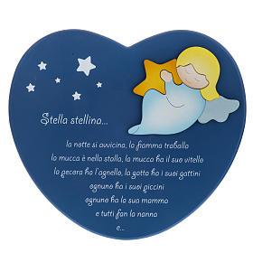 Corazón cántico estrellitas azul Azur Loppiano s1
