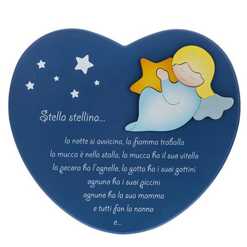 Corazón cántico estrellitas azul Azur Loppiano 1