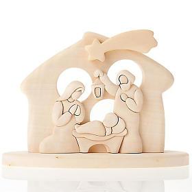 Bassorilievo legno naturale Presepe Azur 20x15 cm s1