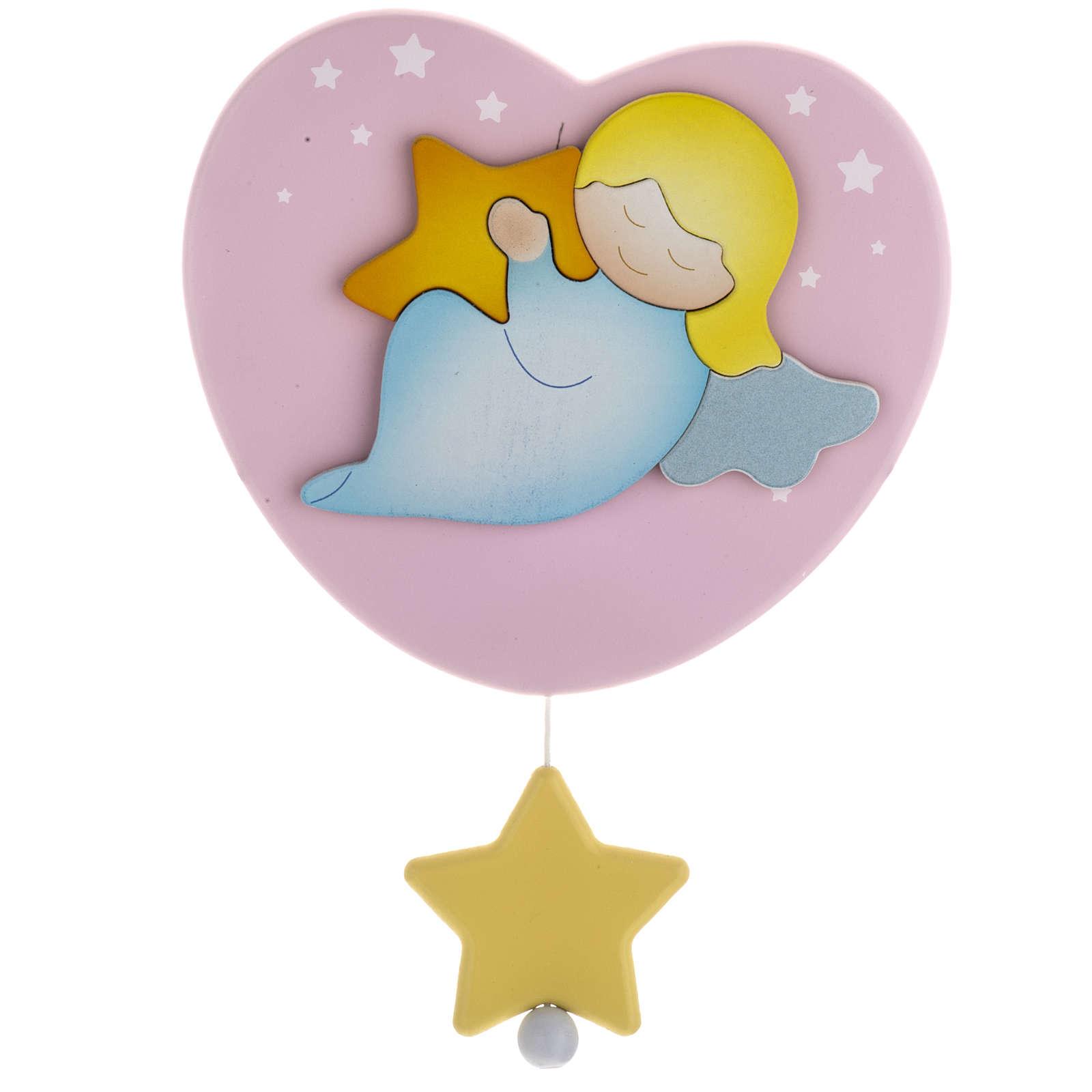 Carillon cuore angelo stella rosa Azur Loppiano 3