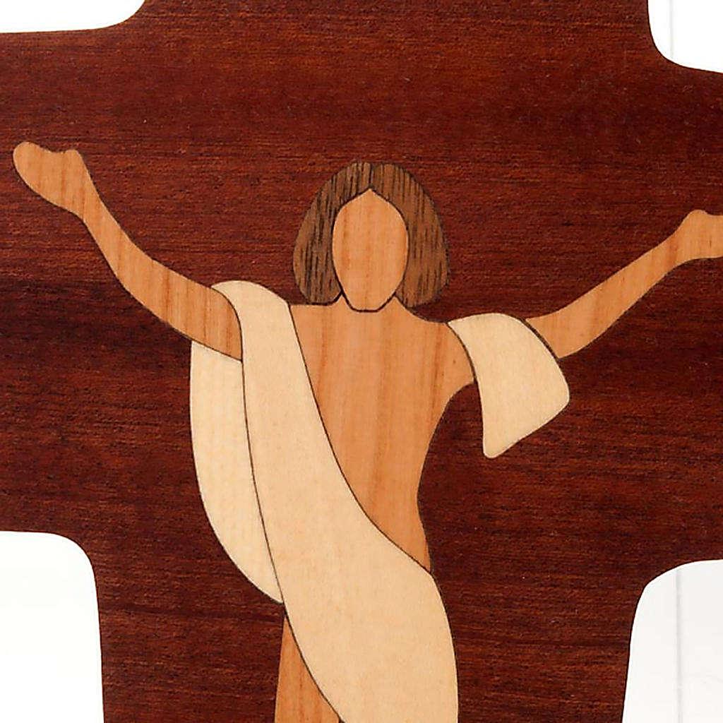Crocefisso Cristo Risorto legno Azur 3