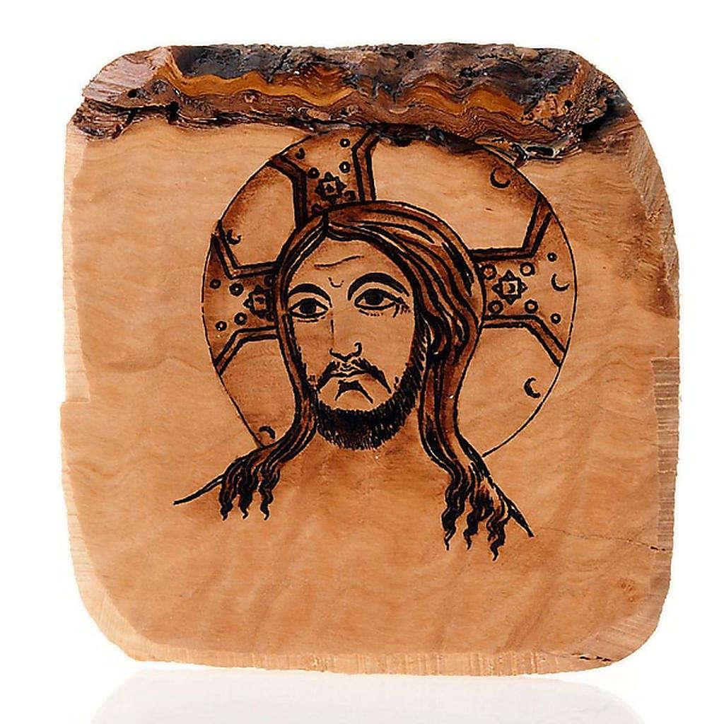 Volto di Gesù tavola olivo Azur 3