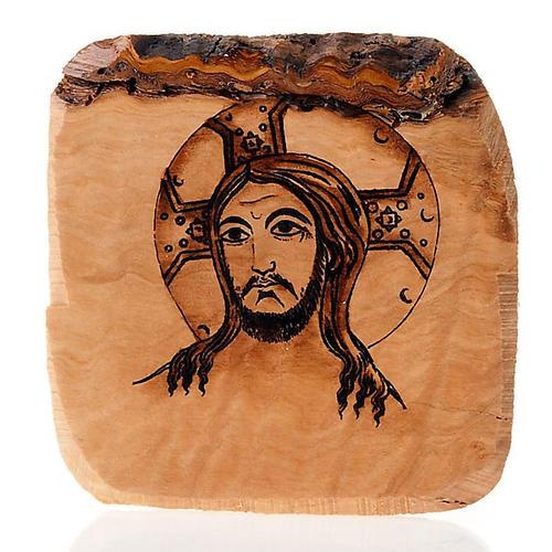 Volto di Gesù tavola olivo Azur 1