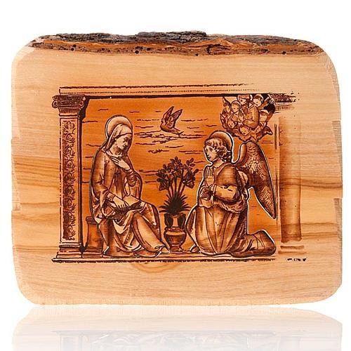 Anunciación Azur tabla de olivo 1