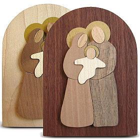 Bomboniera Azur pala legno Sacra Famiglia s1