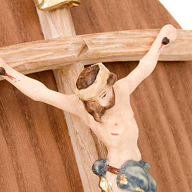 Wooden plaque with crucifix s2