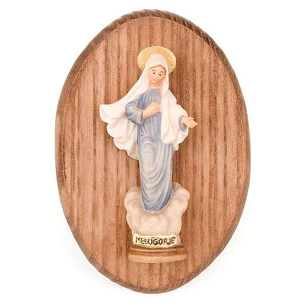 Quadretto con statua Madonna di Medjugorje 4