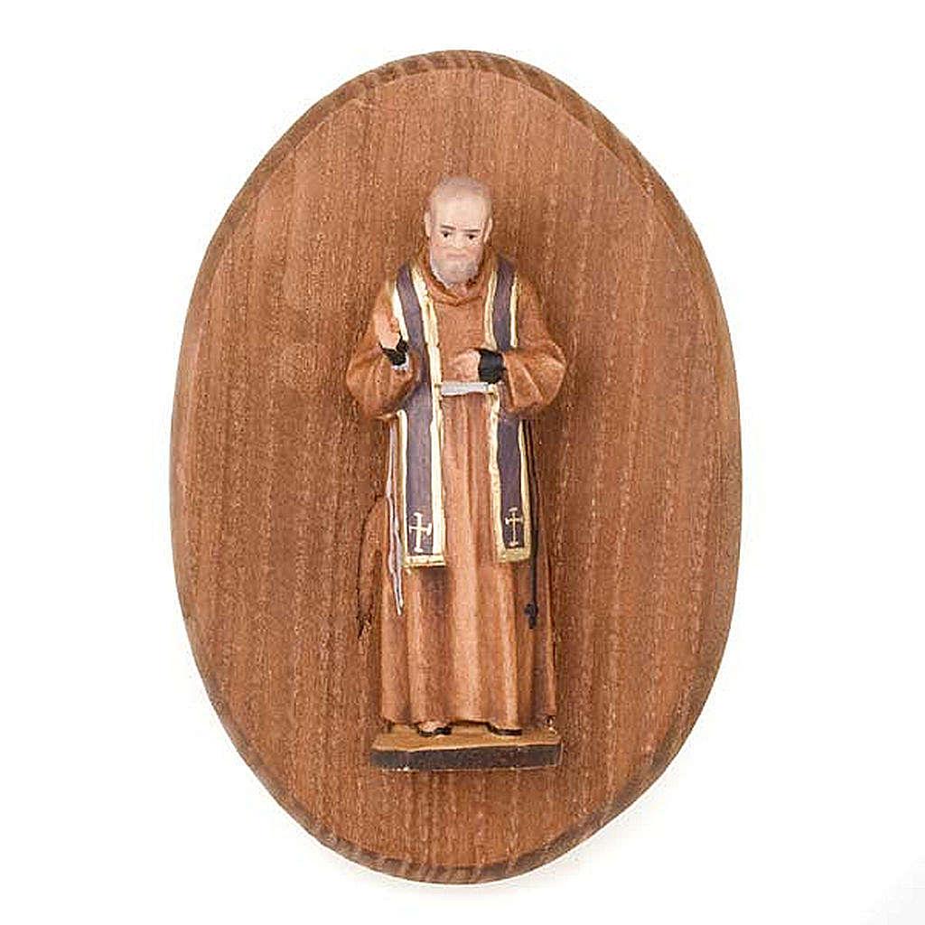Placa con estatua de Padre Pio 4