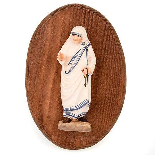 Placa con estatua Madre Teresa 1